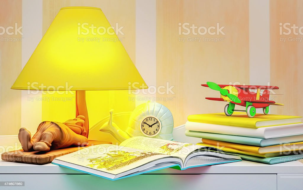 Fairy tale for the night. stock photo