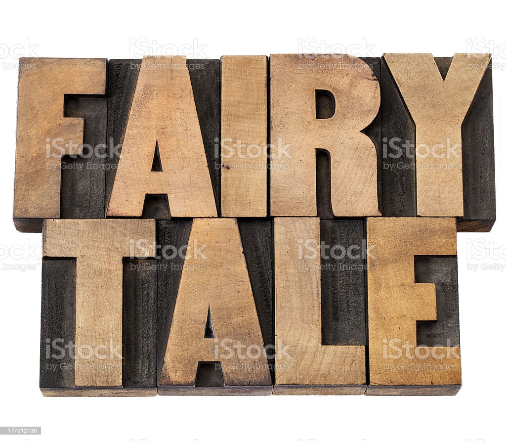 fairy tale in wood type royalty-free stock photo