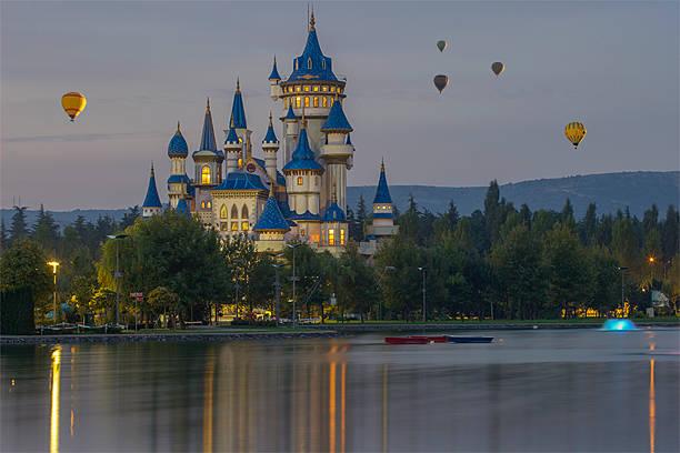 Fairy Tale inside baloons stock photo
