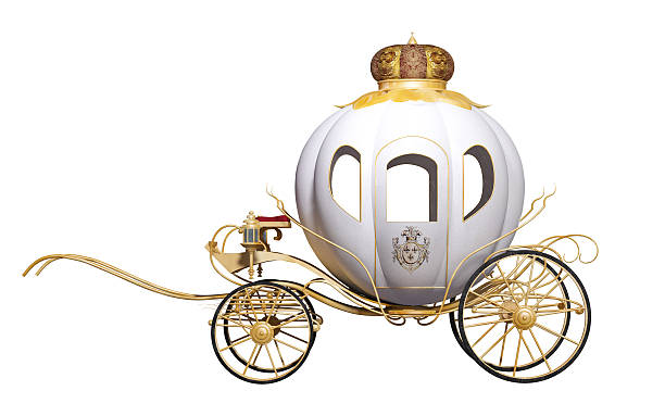 fairy tale royal carriage stock photo