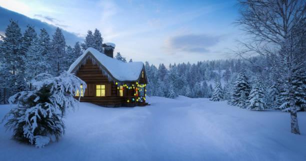 Fairy Winter Landscape stock photo
