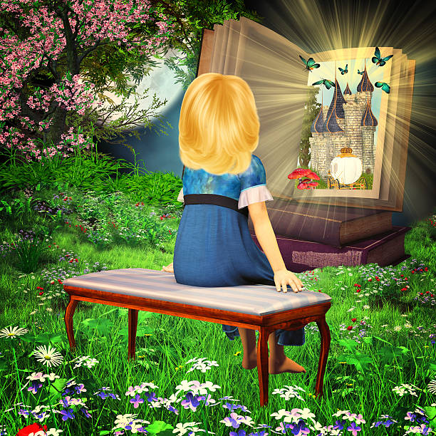 Fairytale book stock photo