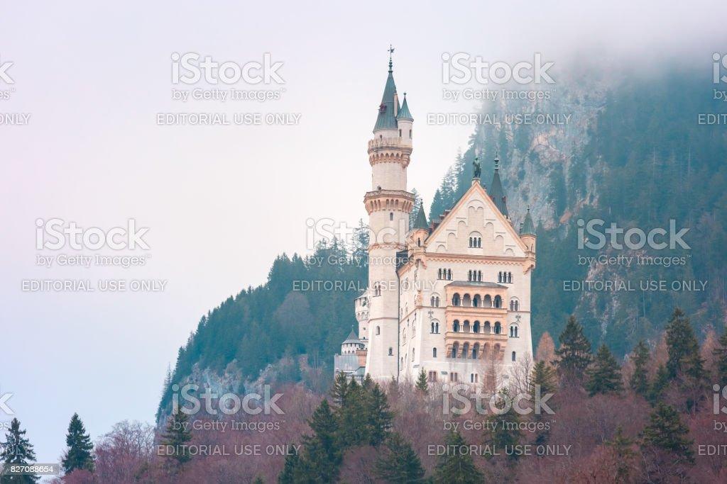 Fairytale Neuschwanstein Castle, Bavaria, Germany stock photo