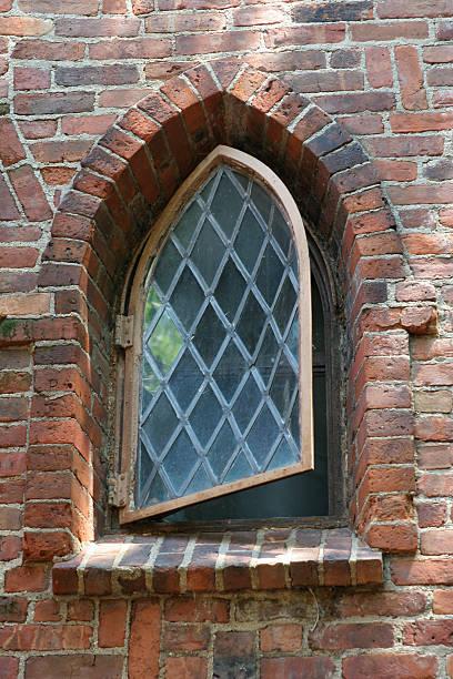 Fairytale window stock photo