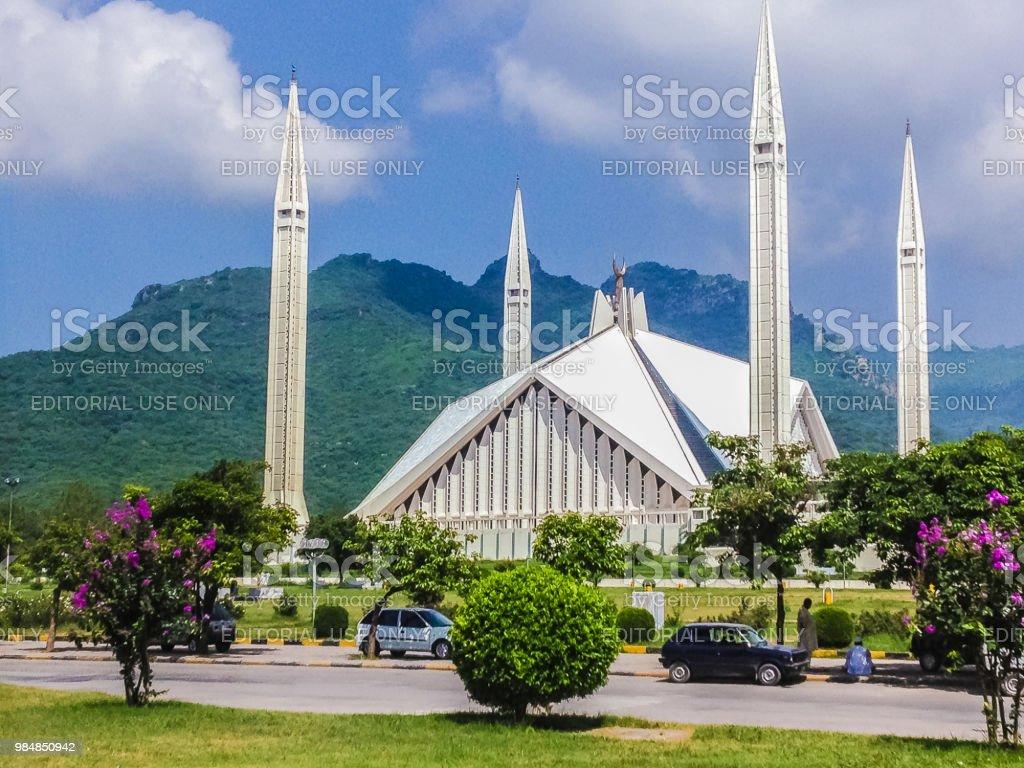 Faisal Masjid Islamabat Pakistans Grosste Moschee Stockfoto