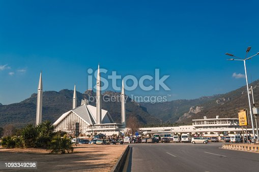 Faisal Mosque is the mosque in Islamabad, Pakistan. Located on the foothills of Margalla Hills in Islamabad, the mosque features a contemporary design consisting of eight sides of concrete shell and is inspired by a Bedouin tent.