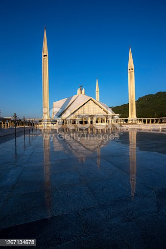 The Faisal Mosque is a mosque in Islamabad, the federal national capital city of the Islamic Republic of Pakistan. It is the fifth-largest mosque in the world and the largest mosque in Pakistan, as well as its national mosque. It is located on the foothills of Margalla Hills in Islamabad