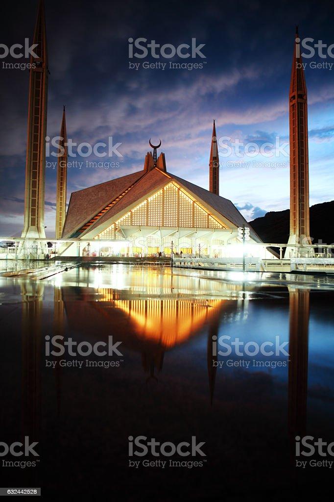 Faisal Mosque Islamabad Pakistan stock photo