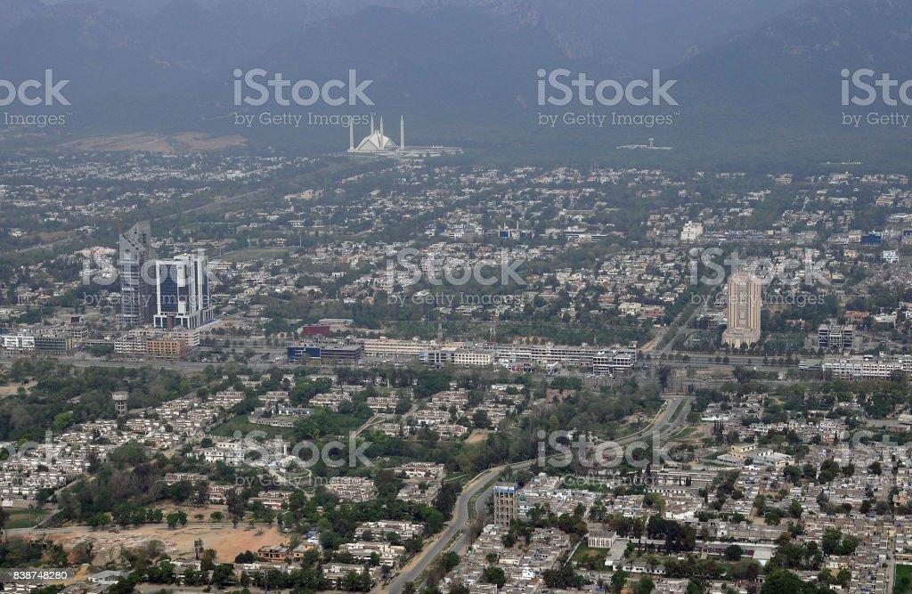Faisal Mosque stock photo