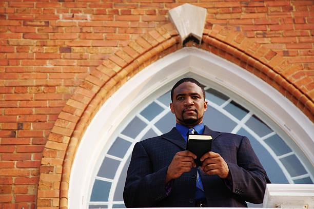 Faith African American Preacher stock photo