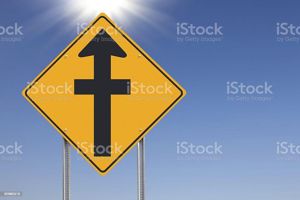 Faith Ahead Traffic Sign royalty-free stock photo