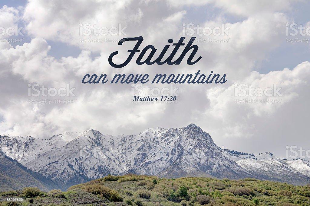 faith can move mountains stock photo