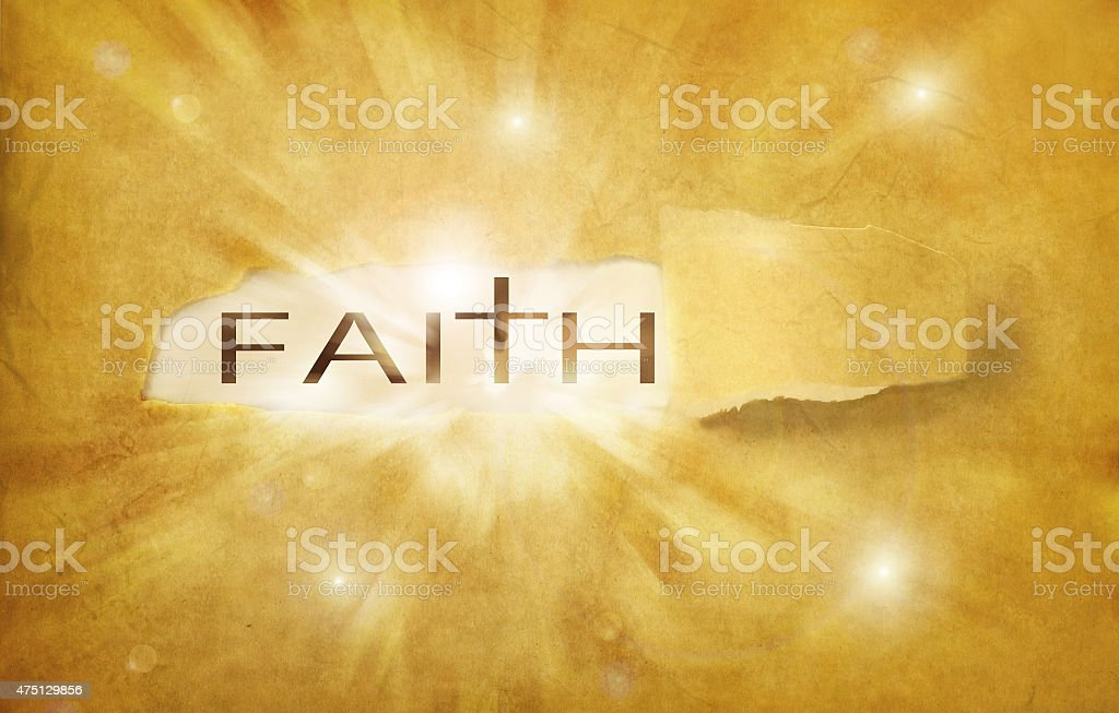 faith discovered stock photo