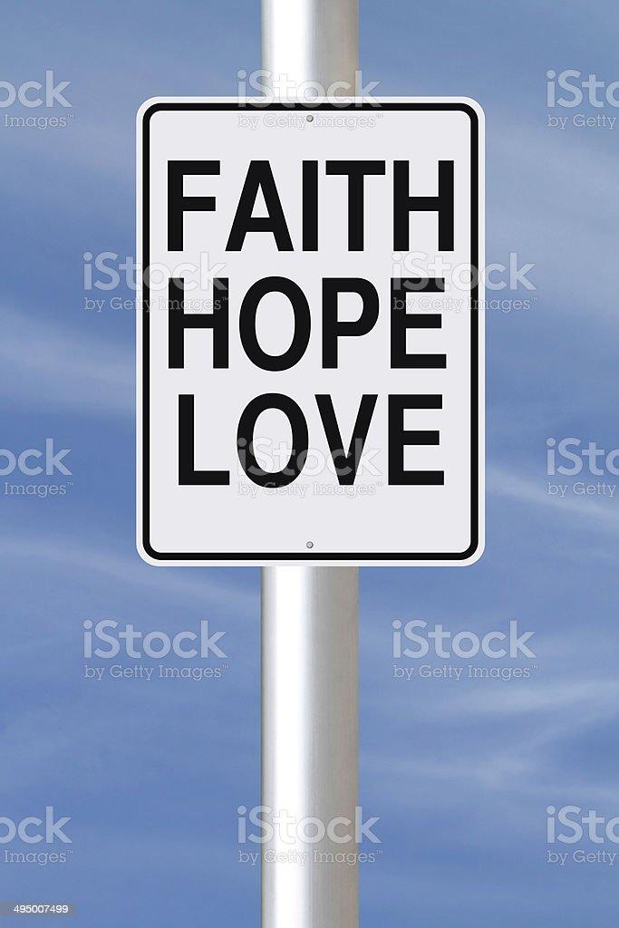 Faith, Hope, and Love stock photo