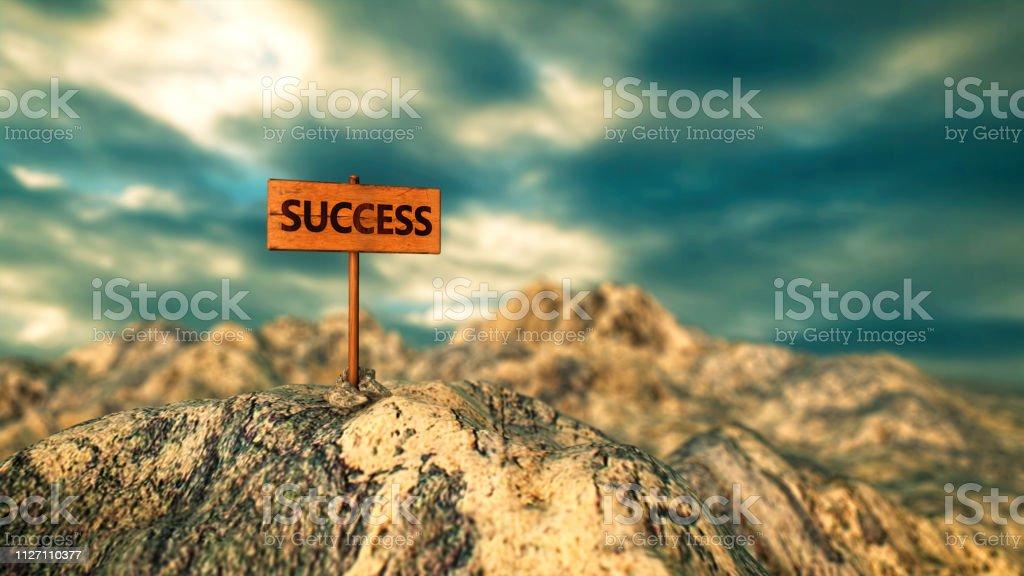 Faith in success stock photo