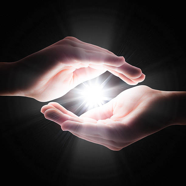 faith in your hands - natural phenomenon stock photos and pictures