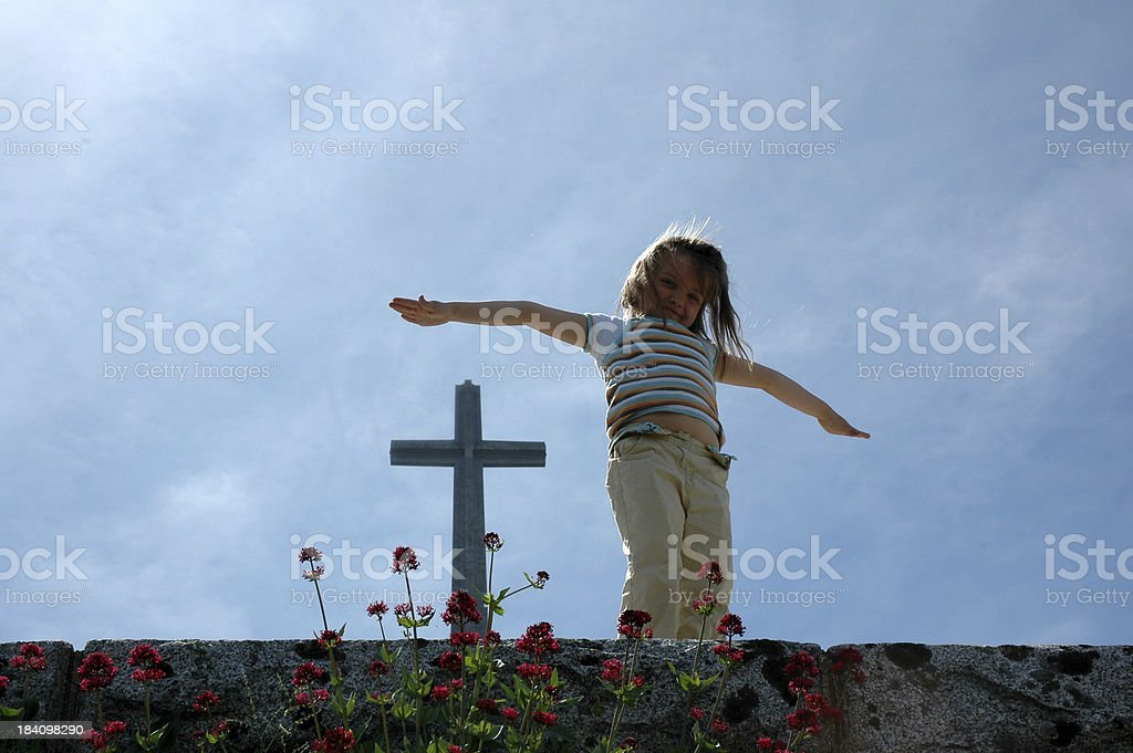 Faith of a Child royalty-free stock photo