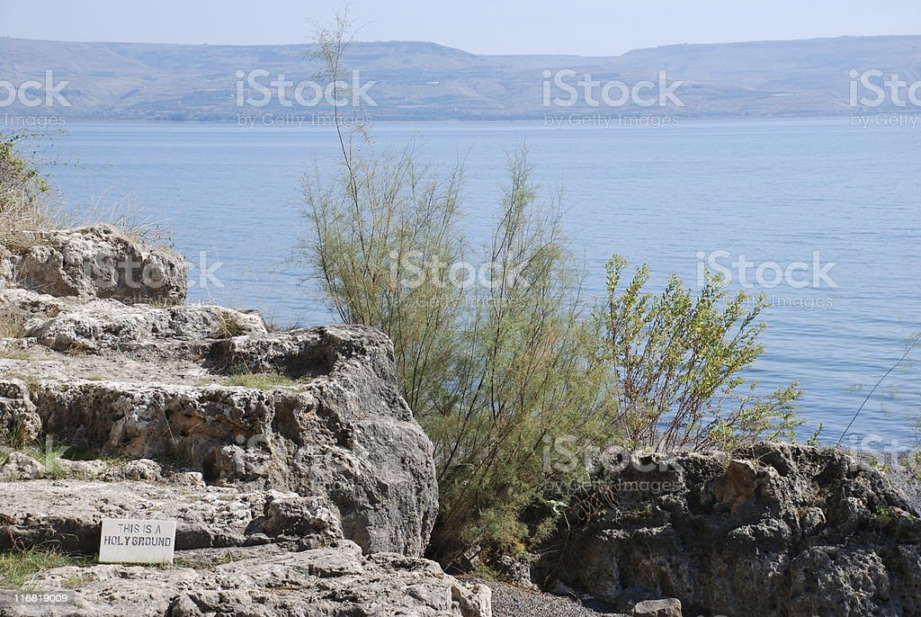 Faith on the Sea of Galilee royalty-free stock photo