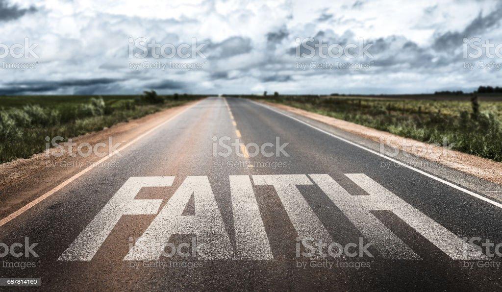 Faith sign stock photo