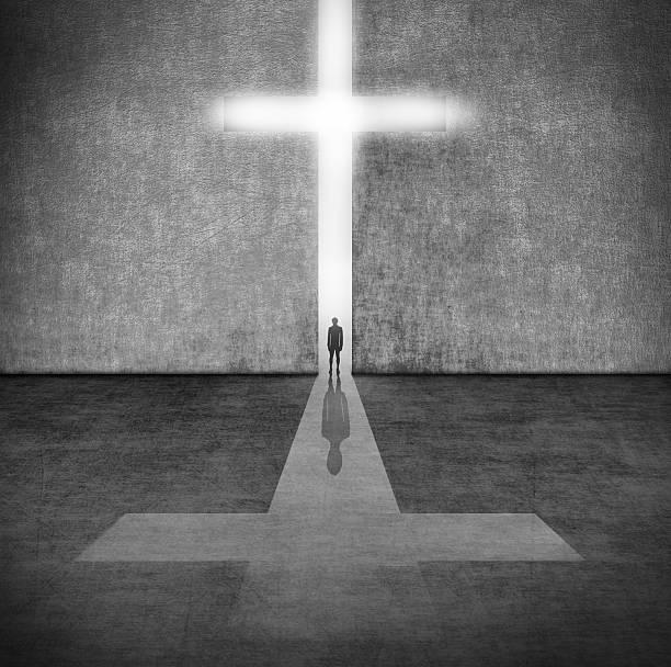 Faith símbolo.  Cruce. - foto de stock