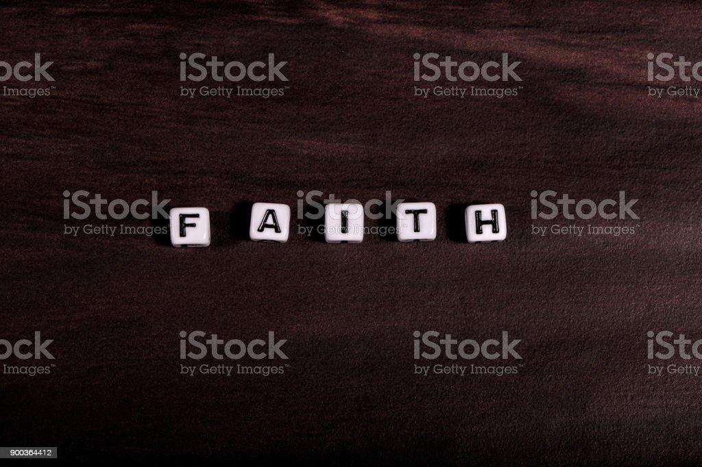 Faith Word stock photo