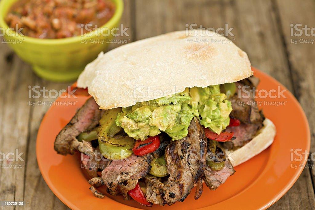 Fajita Sandwich royalty-free stock photo
