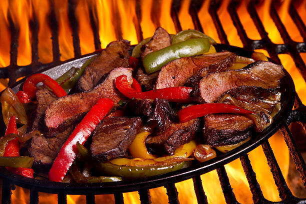 Fajitas and Flames stock photo