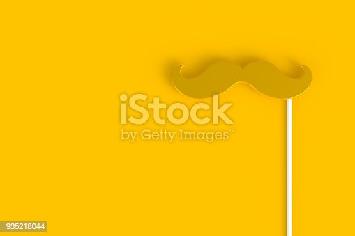 istock Fake abstract minimal yellow background, Father's day concept, 3d rendering 935218044
