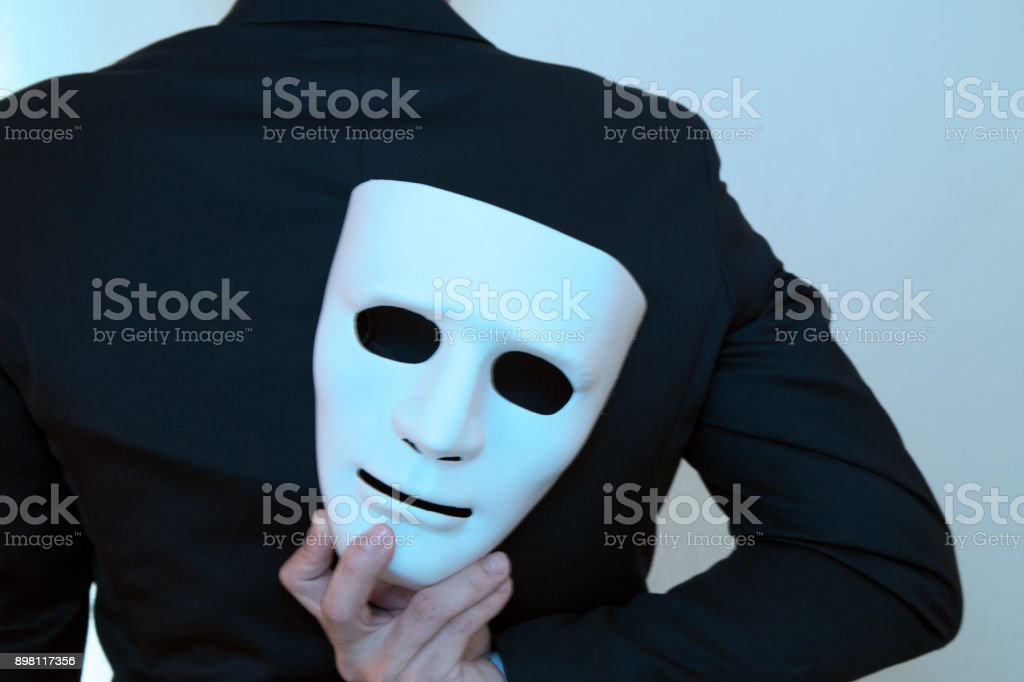 Fake business man with clipping path stock photo