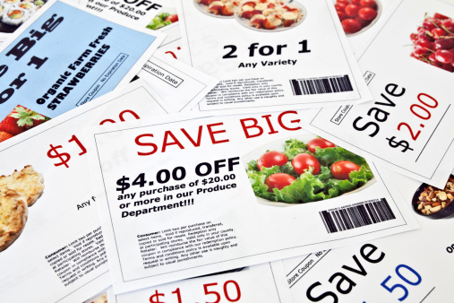 Fake Coupon Background Stock Photo - Download Image Now