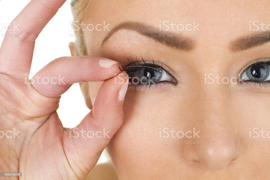 fake eyelashes royalty-free stock photo