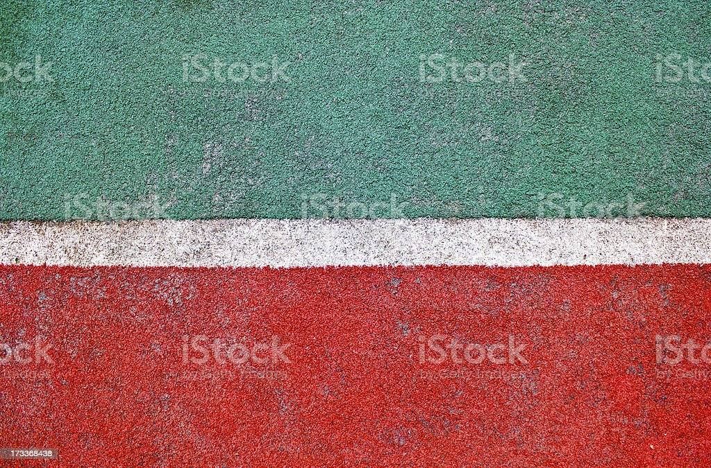 Fake grass and white line as background. royalty-free stock photo