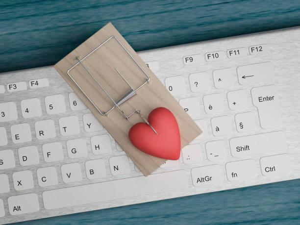 fake love trap - incontro romantico foto e immagini stock