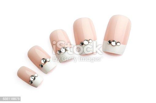 istock Fake nails with diamond bits 535118875