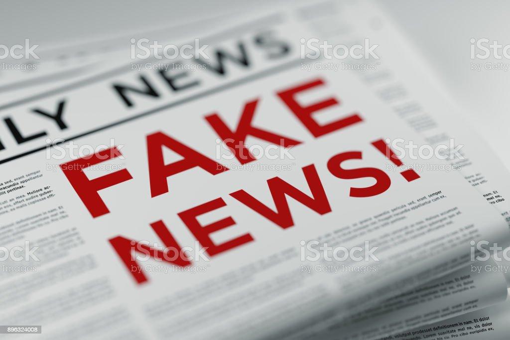 Fake News And Fake Newspaper - Foto stock royalty-free di Affari