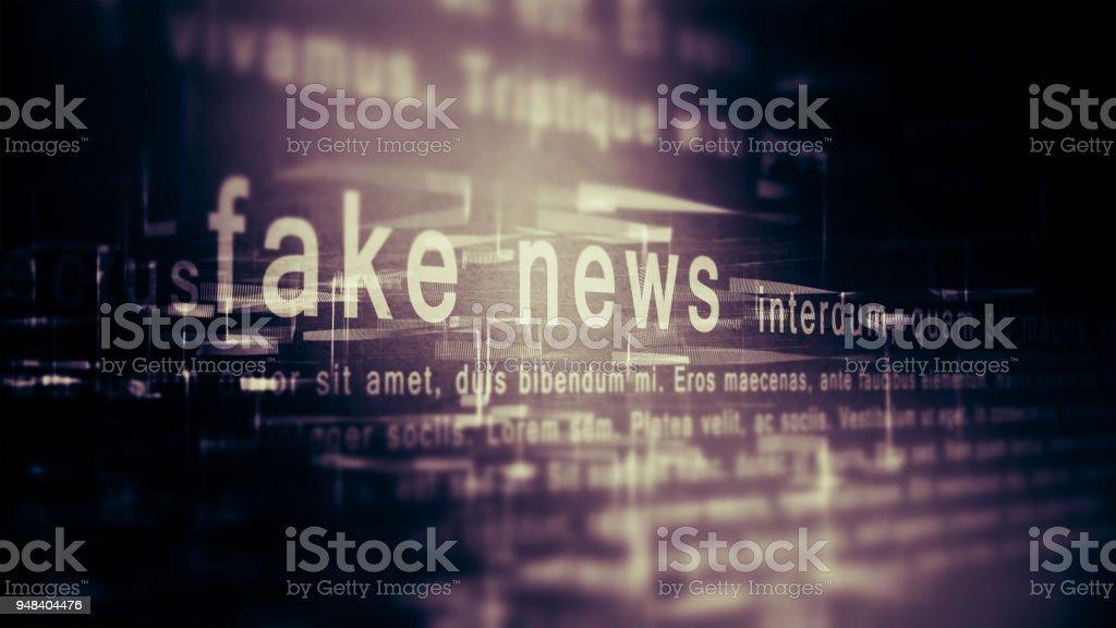 Fake news background stock photo
