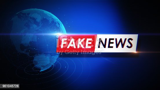 Fake news concept. Horizontal composition with copy space.