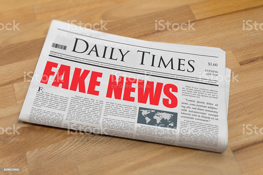 Fake News - Fake Newspaper stock photo