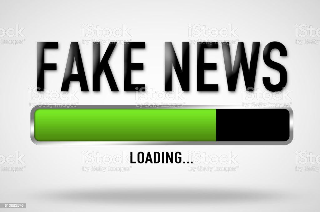 Fake News - loading bar stock photo