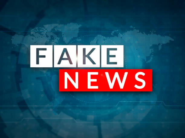 Fake news Fake news television broadcast screen illustration. Fake news and misinformation concept. imitation stock pictures, royalty-free photos & images