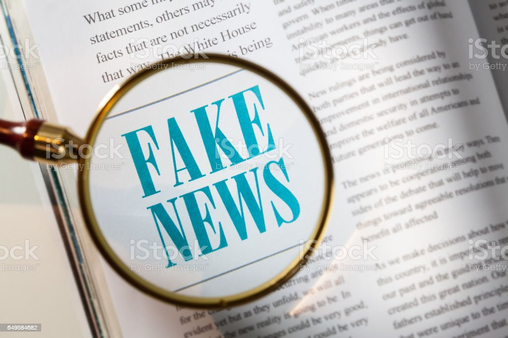 Fake News stock photo