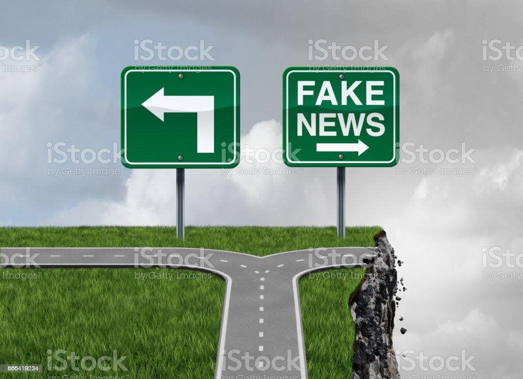 Fake News Risk stock photo