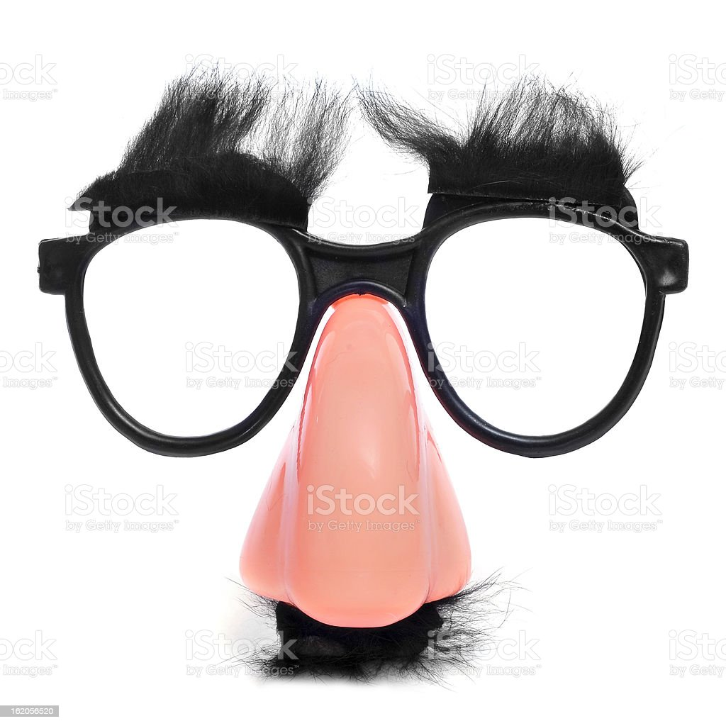 fake nose and glasses stock photo