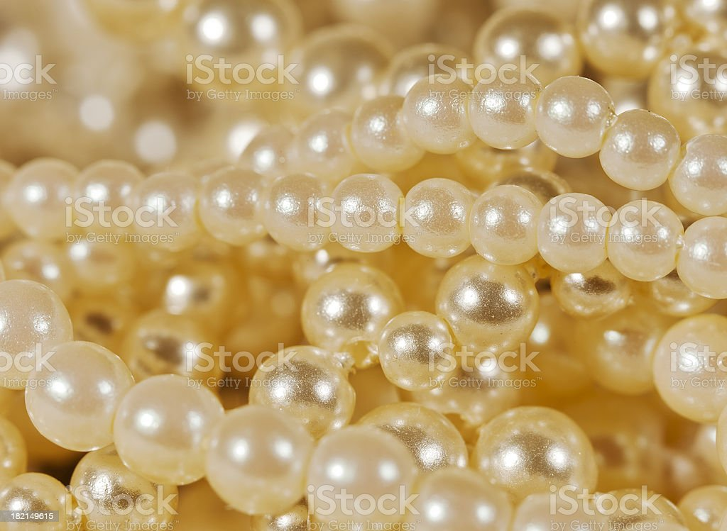 Fake Pearls royalty-free stock photo