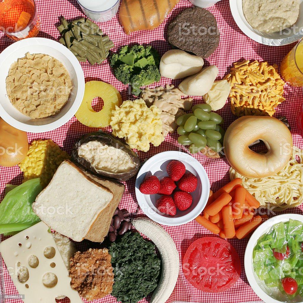 Fake plastic food stock photo