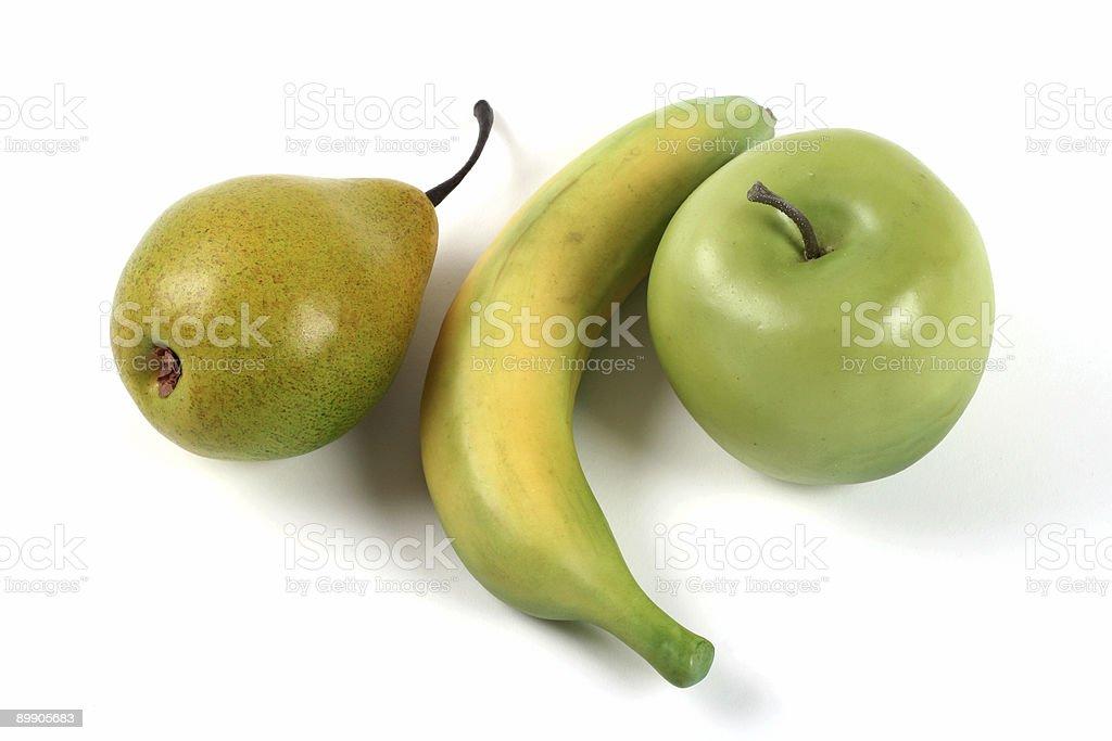 Fake plastic fruit royalty-free stock photo