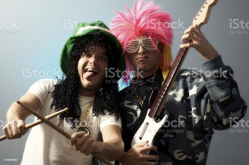 Fake Rock N Roll Band stock photo