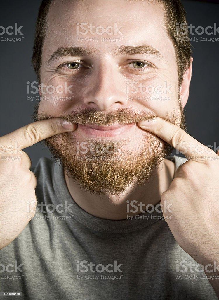 Fake smile royalty-free stock photo