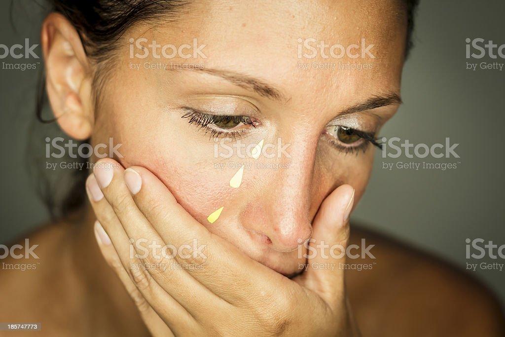 Fake Tears stock photo