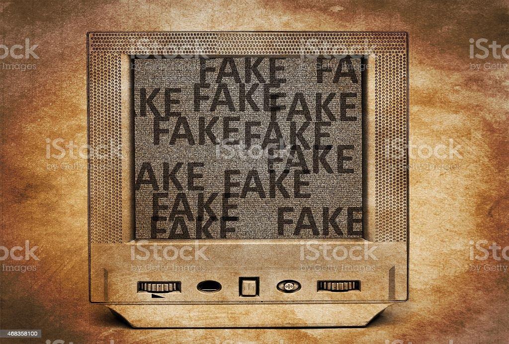 Fake tv program royalty-free stock photo